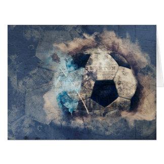 Abstrakter blauer Grunge-Fußball Karte