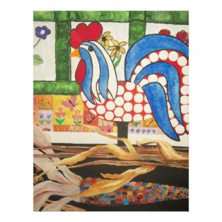 abstrakter blauer Hahn Custom Flyer