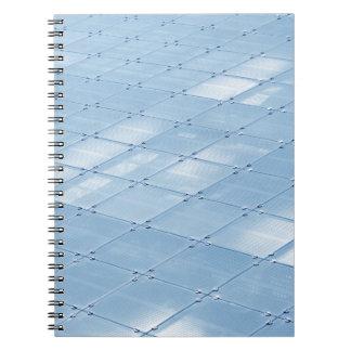 Abstrakter blauer Hintergrund Notizblock