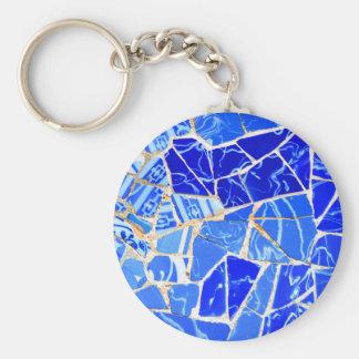 Abstrakter blauer Hintergrund Schlüsselanhänger