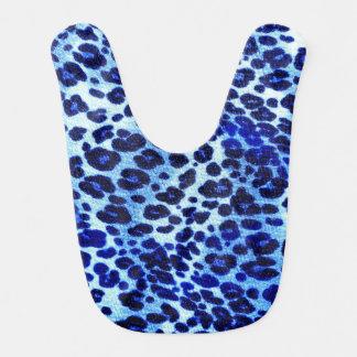 Abstrakter blauer Hipstercheetah-Tierdruck Babylätzchen