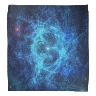 Abstrakter blauer Nebelfleck Halstuch