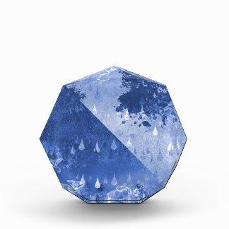 Abstrakter blauer Regen-Tropfen-Entwurf Auszeichnung