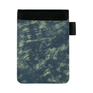 Abstrakter blauer und weißer mini padfolio