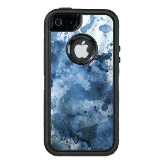 Abstrakter blauer Watercolorhintergrund OtterBox iPhone 5/5s/SE Hülle
