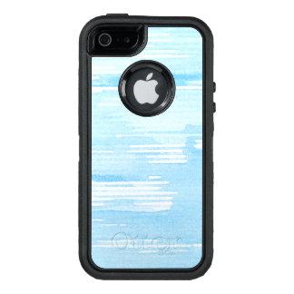 Abstrakter blauer Watercolorhintergrund, OtterBox iPhone 5/5s/SE Hülle