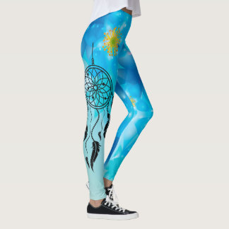 Abstrakter Blues-Traum-Fänger Leggings