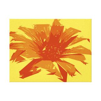 Abstrakter Blumensommer Duotone Leinwanddruck
