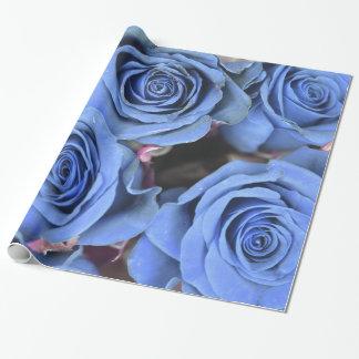 Abstrakter bunter blauer Rosen-Garten-elegantes Geschenkpapier