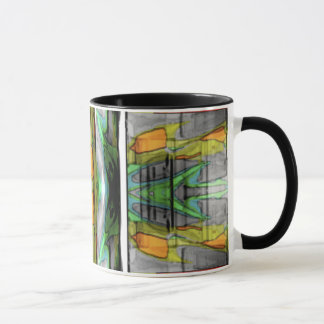 Abstrakter bunter Entwurf Tasse