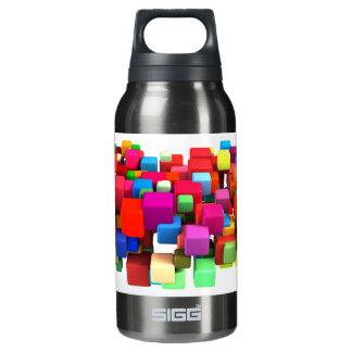 Abstrakter bunter Hintergrund Isolierte Flasche