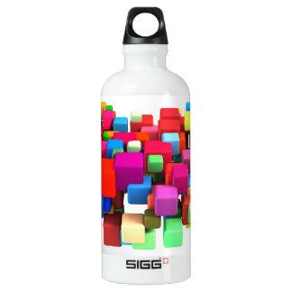 Abstrakter bunter Hintergrund Wasserflasche