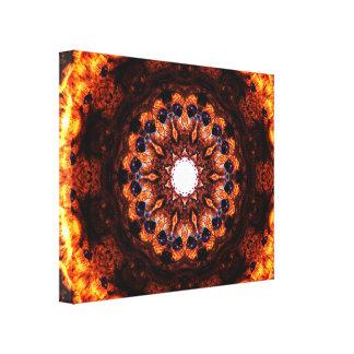 Abstrakter Burning Leinwanddruck
