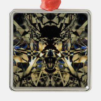Abstrakter Drache Silbernes Ornament