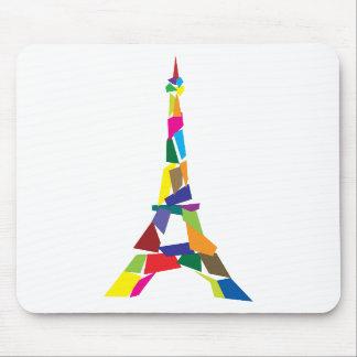 Abstrakter Eiffel-Turm Frankreich Paris Mauspad
