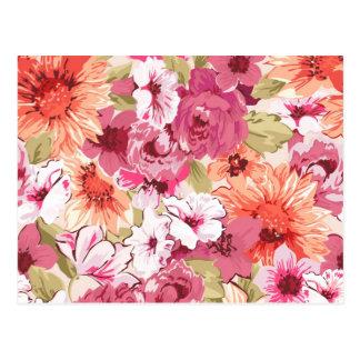 Abstrakter eleganter Blumenentwurf Postkarte