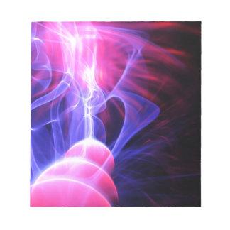 Abstrakter Energiehintergrund Notizblock