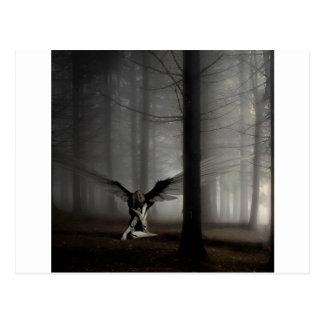 Abstrakter Engel gefallener Engel Postkarte
