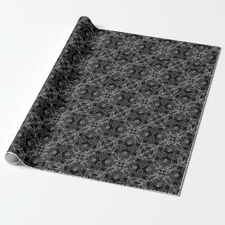 Abstrakter Entwurf der dunklen Metallart Geschenkpapier