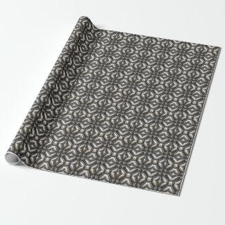 Abstrakter Entwurf der silbernen und schwarzen Geschenkpapier