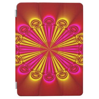 Abstrakter Entwurfs-rosa und gelbe Strahlen iPad Air Hülle