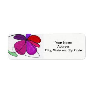 Abstrakter Entwurfs-Rücksendeadresseaufkleber, mit Rücksendeetikett
