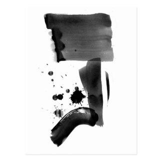 Abstrakter Expressionismus Schwarz-weiß Postkarte
