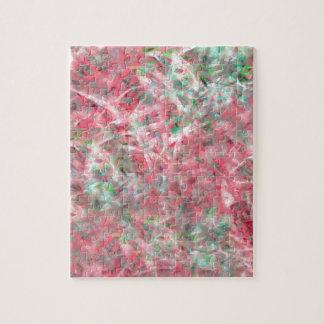 Abstrakter Expressionist-Tanz im Rosa und im Grün Puzzle