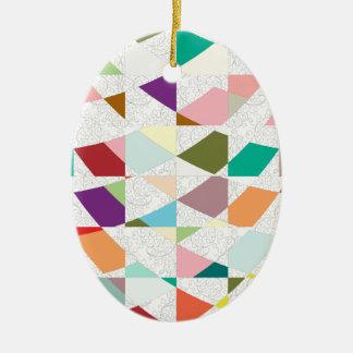 Abstrakter Farbdamast Keramik Ornament