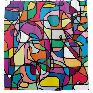 Abstrakter Farbduschvorhang Duschvorhang