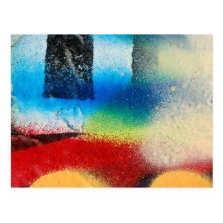 abstrakter Farbenhintergrund des Graffiti Postkarte
