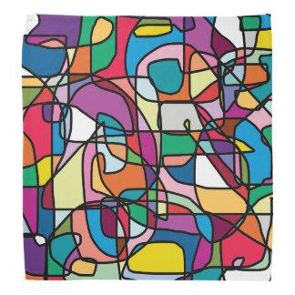Abstrakter FarbgekritzelBandana Kopftuch