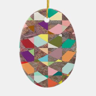 Abstrakter FarbGlitter Keramik Ornament