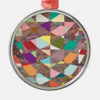 Abstrakter FarbGlitter Silbernes Ornament