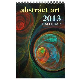 Abstrakter feine Kunst-Kalender der Kunst-2013 Abreißkalender