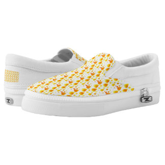 Abstrakter Feuer-Regen-Tropfen-Beleg auf Schuhen Slip-On Sneaker
