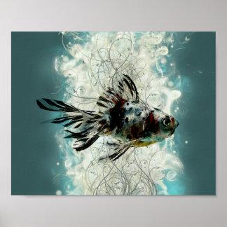 Abstrakter Fischentwurf Poster