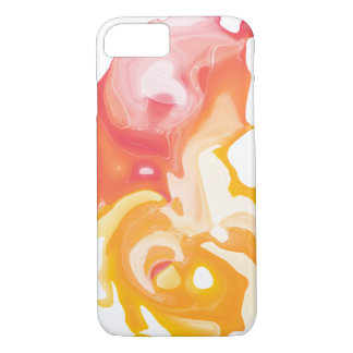 Abstrakter flüssiger Telefonkasten des orange iPhone 8/7 Hülle