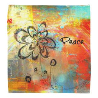 Abstrakter Frieden Halstuch