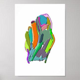 Abstrakter Fuß Poster