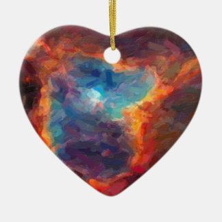 Abstrakter galaktischer Nebelfleck mit kosmischer Keramik Ornament
