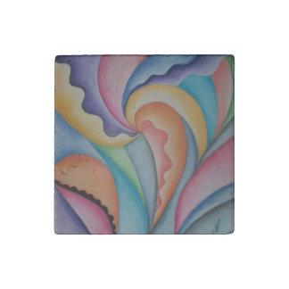 Abstrakter Garten-Küchenmit blumenmagnet Stein-Magnet