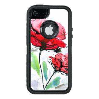 Abstrakter gemalter Blumenhintergrund OtterBox iPhone 5/5s/SE Hülle