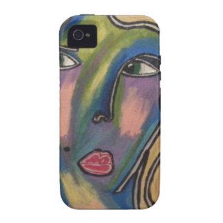 Abstrakter Gesichts-Telefon-Kasten iPhone 4/4S Hülle