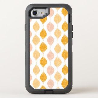 Abstrakter goldener ogee Musterhintergrund OtterBox Defender iPhone 8/7 Hülle