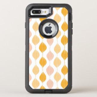 Abstrakter goldener ogee Musterhintergrund OtterBox Defender iPhone 8 Plus/7 Plus Hülle