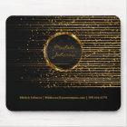 Abstrakter goldener Stern-Licht-Entwurf Mousepad