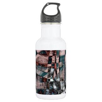 Abstrakter Graffiti Edelstahlflasche