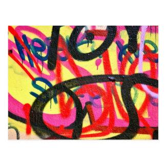 abstrakter Graffitihintergrund Postkarte