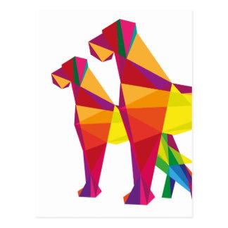 Abstrakter großer Hund Postkarte